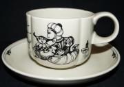 Rosenthal Form ohne Namen Till Eulenspiegel: Kaffeetasse 2-tlg. 0,20 ltr. UT = 14,5 cm