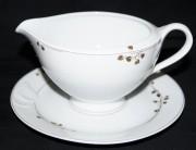 Hutschenreuther Fleuron Cloe Rivoli: Sauciere 2-tlg. 0,40 ltr. UT = 18 cm