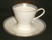 Rosenthal Form 2000 Gala Blau: Kaffeetasse 2-tlg. H = 7 cm; Ø = 8 cm; UT = 14,5 cm