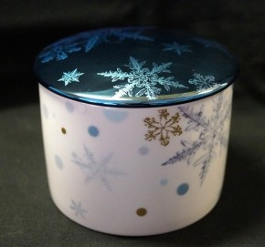 Rosenthal Solitaire Snowflake: Zuckerdose 6. Pers. / 0,23 ltr. - Rand Blue