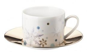 Rosenthal Solitaire Snowflake: Kombitasse 2.tlg. 0,23 ltr. UT = 15,5 cm - Gold