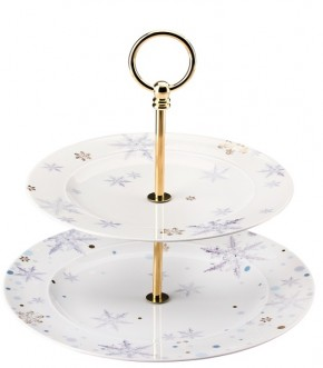 Rosenthal Solitaire Snowflake: Etagere 2-tlg. 22 - 27 cm