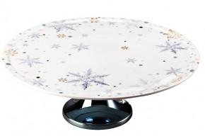 Rosenthal Solitaire Snowflake: Tortenplatte auf Fuß 33 cm - Blue