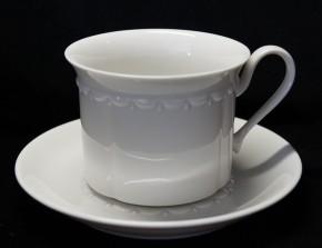 Rosenthal Anna Weiss - Pearl China: Kombi-/Teetasse 2-tlg. H = 7 cm, Ø 8,5 cm UT 14,5 cm