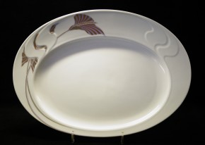 Rosenthal Asimmetria Goldblume: Platte 28,5 x 20,5 cm