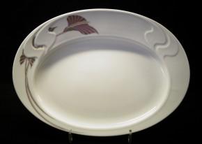 Rosenthal Asimmetria Goldblume: Platte 34,5 x 25 cm