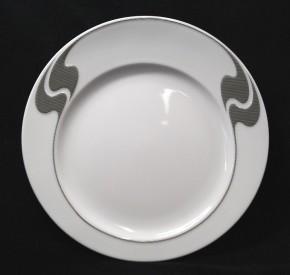 Rosenthal Asimmetria Grauraster auf Weiss: Frühstücksteller 20 cm