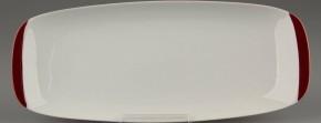Rosenthal Berlin secunda Purpur: Platte rechteckig 26,8 x 11 cm