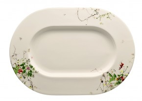 Rosenthal Brillance Fleurs Sauvages: Platte 34 cm (34 x 24 cm)