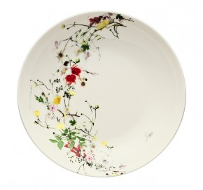 Rosenthal Brillance Fleurs Sauvages: Suppenteller 21 cm / Coup