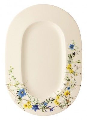 Rosenthal Brillance  Fleurs des Alpes: Platte 34 cm (34 x 24 cm)