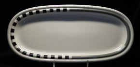 Rosenthal Cupola Strada: Königskuchenplatte 37 cm x 17 cm
