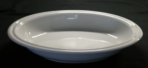 Rosenthal Cupola Weiss  - Weiß: Platte 30 cm oval tief (30,5 x 23 cm) =Brotkorb, Gemüseschale/Lasagne