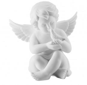 Rosenthal Engel Bisquit-Porzellan matt: Engel mit Taube klein 6 cm