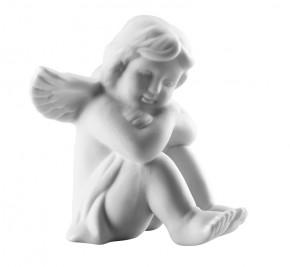 Rosenthal Engel Bisquit-Porzellan matt: Engel sitzend klein 6 cm