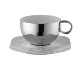 Rosenthal Free Spirit Stars: Cafe au lait Tasse mit Untertasse 0,65 ltr. UT 19 cm quadratisch