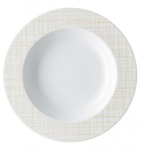 Rosenthal Mesh Linie Cream: Teller 23 cm tief mit Fahne