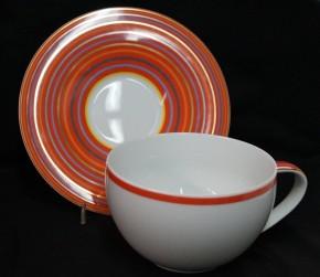Rosenthal Yono Cyrrus: Caffee au lait 2-tlg. 0,55 ltr. H = 8 cm; Ø = 12,5 cm; UT = 18 cm;