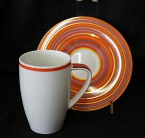 Rosenthal Yono Cyrrus: Latte Macciato 2-tlg. 0,23 ltr.; H = 10,2 cm; Ø = 6,5 cm; UT = 15,5 cm;