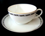 Rosenthal Balmoral Rankenband schwarz: Teetassen 2-tlg.
