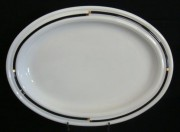Rosenthal Cupola Nera: Platte tief 36,5 x 27 cm