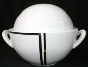 Rosenthal Cupola Nera: Schüssel mit Deckel - Ragout 1,80 ltr.