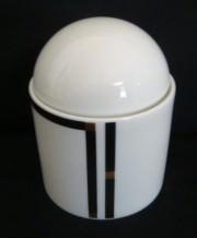 Rosenthal Cupola Nera: Zuckerdose f. 6 Personen 0,27 ltr.