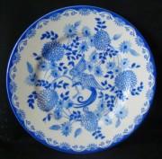 Rosenthal Else blaue Stunde, blauer Paradiesvogel - Fasan: Frühstücksteller 19 cm