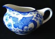 Rosenthal Else blaue Stunde, blauer Paradiesvogel - Fasan: Milchkännchen für 6 Personen