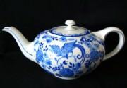 Rosenthal Else blaue Stunde, blauer Paradiesvogel - Fasan: Teekanne für 6 Personen