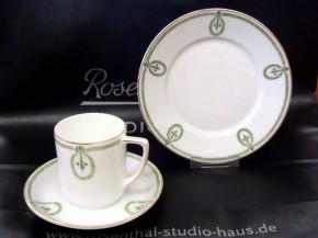 Rosenthal Empire grüne Blätterranken: Frühstücks-/Brotteller 17 cm