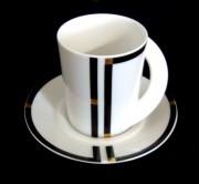 Rosenthal Cupola Nera: Kaffeetasse 2-tlg. 0,19 ltr. UT = 13 cm