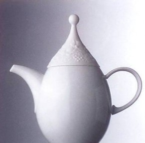 Rosenthal Minikännchen uni - weiss: Zauberflöte H = 9 cm; Bjoern Wiinblad