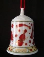 Rosenthal Porzellanglocke 7 cm: Weihnachten 2000