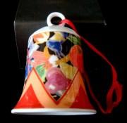 Rosenthal Porzellanglocke 7 cm: Weihnachtglocke Surprise - Motiv - Früchte + Geschenke