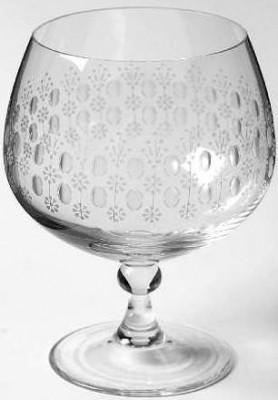 Rosenthal Romanze Strohglas - Flächenschliff: Cognac-Schwenker 118 mm hoch, Ø 7 cm