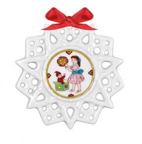 Hutschenreuther Schmucksterne: Schmuckstern Weihnachtswichtel