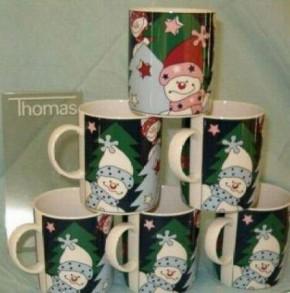 Thomas Sunny Day Funny Christmas: Becher mit Henkel 0,30 ltr. Motiv: Warten auf`s Christkind