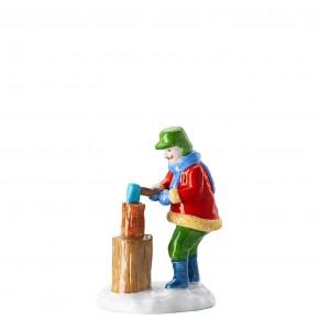 Hutschenreuther Sammelkollektion 2020 Weihnachtsbäckerei - Figuren: Holzfäller Höhe: 10 cm