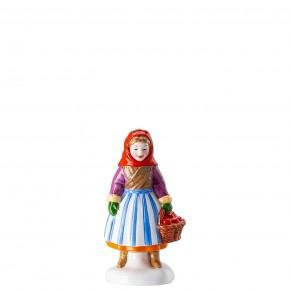 Hutschenreuther Sammelkollektion 2020 Weihnachtsbäckerei - Figuren: Obstfrau Höhe 9,2 cm