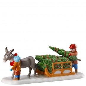 Hutschenreuther Sammelkollektion 2020 Weihnachtsmarkt - Figuren: Esel mit Schlitten (22,6 x 7,6 x 8,3 cm) Künstler Renàta