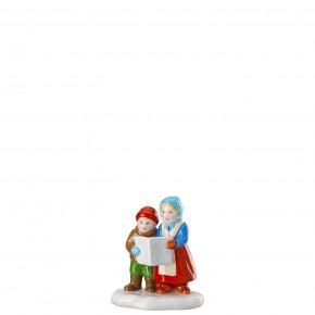 Hutschenreuther Sammelkollektion 2020 Weihnachtsmarkt - Figuren: Singende Kinder (6,7 x 4,5 x 7,8 cm) Künstler Renáta