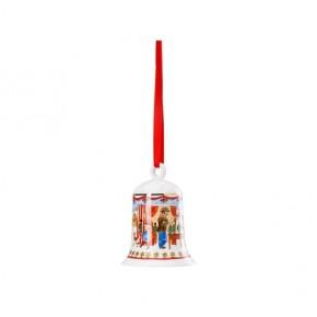 Hutschenreuther Weihnachtsglocken: Weihnachtsmarkt 2019 Höhe 7 cm Durchmesser 5,5 cm OVP