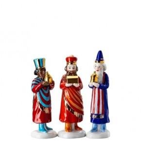 Hutschenreuther Weihnachtskrippe: Set Heilige 3 Könige Höhe: 11 - 11,5 - 10,5 cm
