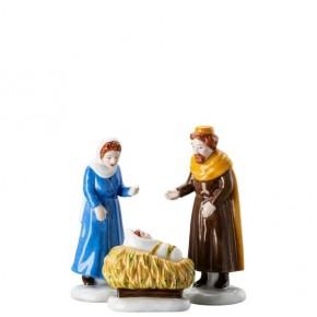 Hutschenreuther Weihnachtskrippe: Set Maria, Josef, Kind Höhe 9,5 - 10 - 5 cm