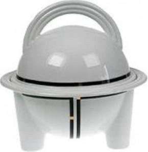 Rosenthal Cupola Nera: Schüssel mit Deckel auf Fuß 1,7 ltr.