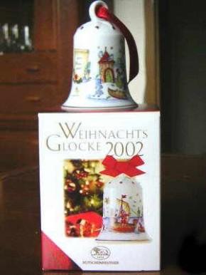 Hutschenreuther Weihnachtsglocken : Auf der Heide 1993 Höhe 7 cm Durchmesser 5,5 cm OVP