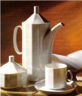 Rosenthal Polygon Weiss - Weiß: Kaffeepott h= 9,0 Duchm. 7,5 cm - Hotel