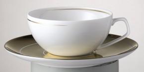 Rosenthal TAC 02 Dynamic Gold: Teetasse 2-tlg. 0,23 ltr.; UT 16 cm = Gold + sandgestrahlt